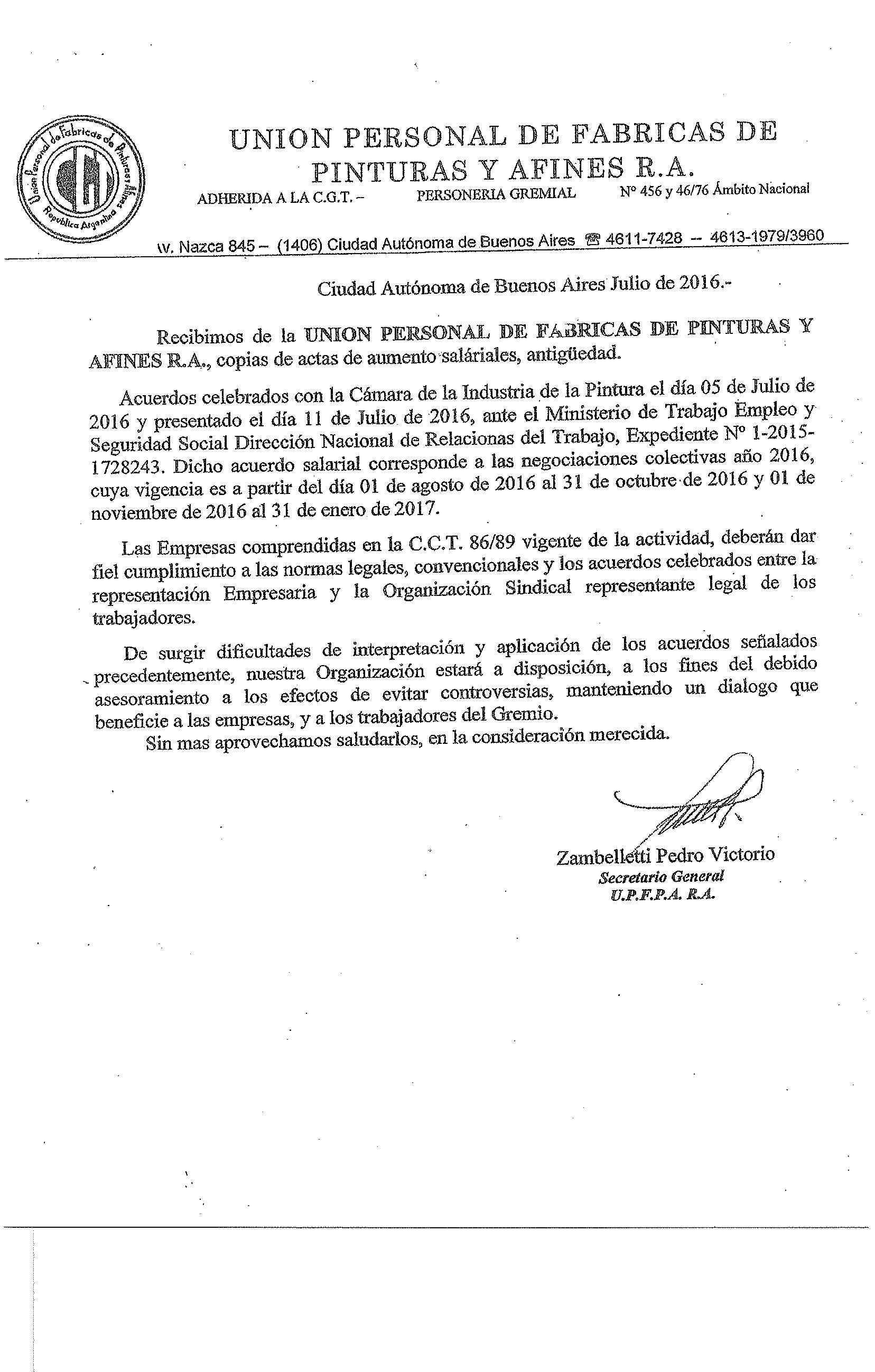 Ministerio de trabajo negociacion paritarias 2016 for Ministerio de trabajo